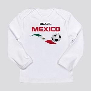 Soccer 2014 MEXICO red Long Sleeve Infant T-Shirt