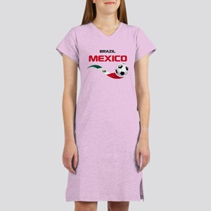 Soccer 2014 MEXICO red Women's Nightshirt