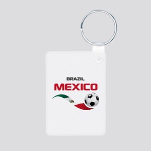 Soccer 2014 MEXICO red Aluminum Photo Keychain