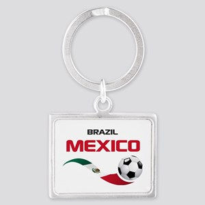 Soccer 2014 MEXICO red Landscape Keychain