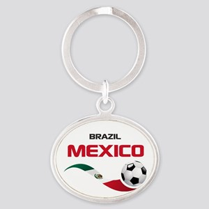 Soccer 2014 MEXICO red Oval Keychain