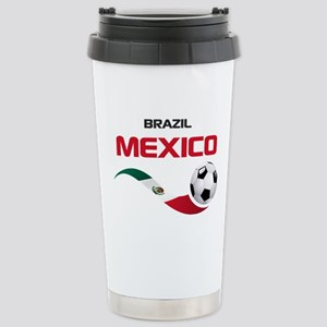 Soccer 2014 MEXICO red Stainless Steel Travel Mug