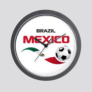 Soccer 2014 MEXICO red Wall Clock