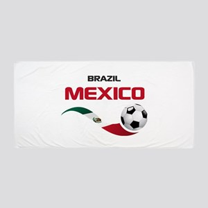 Soccer 2014 MEXICO red Beach Towel
