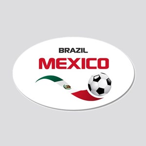 Soccer 2014 MEXICO red 20x12 Oval Wall Decal