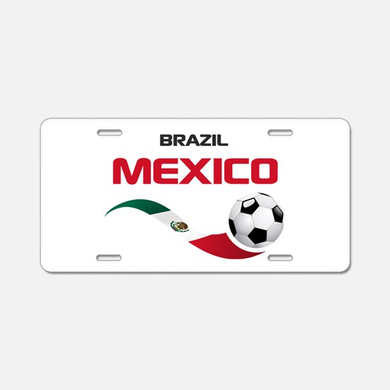 Soccer 2014 MEXICO red Aluminum License Plate
