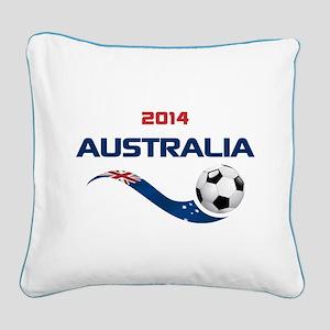 Soccer 2014 AUSTRALIA Square Canvas Pillow