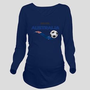 Soccer 2014 AUSTRALI Long Sleeve Maternity T-Shirt