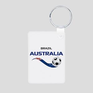 Soccer 2014 AUSTRALIA 1 Aluminum Photo Keychain