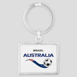 Soccer 2014 AUSTRALIA 1 Landscape Keychain