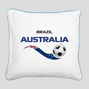 Soccer 2014 AUSTRALIA 1 Square Canvas Pillow