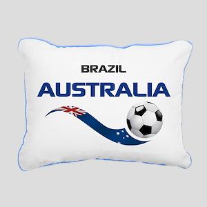 Soccer 2014 AUSTRALIA 1 Rectangular Canvas Pillow