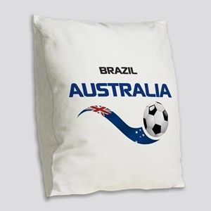 Soccer 2014 AUSTRALIA 1 Burlap Throw Pillow