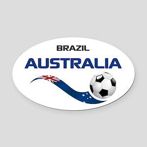 Soccer 2014 AUSTRALIA 1 Oval Car Magnet