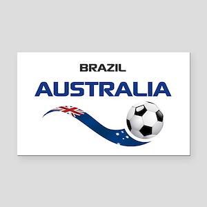 Soccer 2014 AUSTRALIA 1 Rectangle Car Magnet