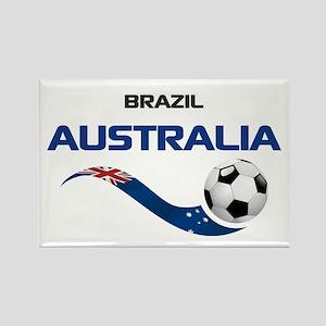 Soccer 2014 AUSTRALIA 1 Rectangle Magnet