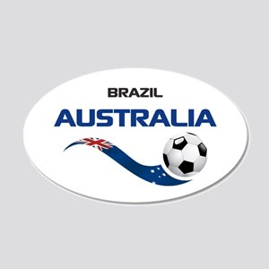 Soccer 2014 AUSTRALIA 1 20x12 Oval Wall Decal