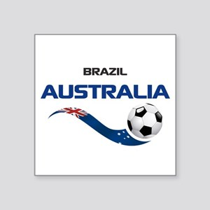 "Soccer 2014 AUSTRALIA 1 Square Sticker 3"" x 3"""