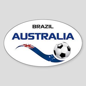 Soccer 2014 AUSTRALIA 1 Sticker (Oval)