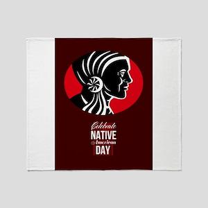Celebrate Native American Day Retro Poster Card Th