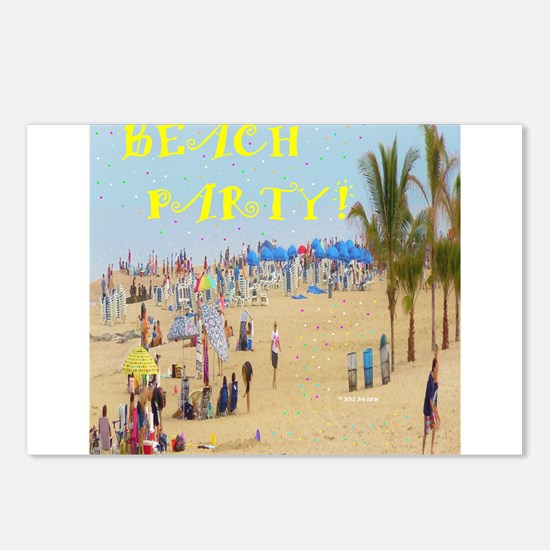 Beach Party Postcards (Package of 8)