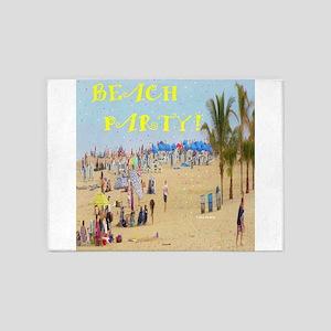 Beach Party 5'x7'Area Rug