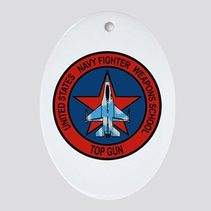 US Navy Fighter Weapons Schoo Oval Ornament