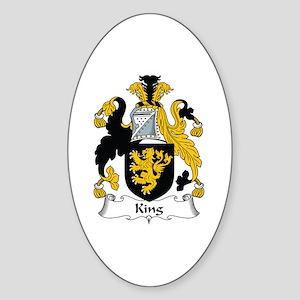 King Oval Sticker