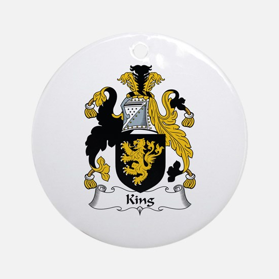 King Ornament (Round)