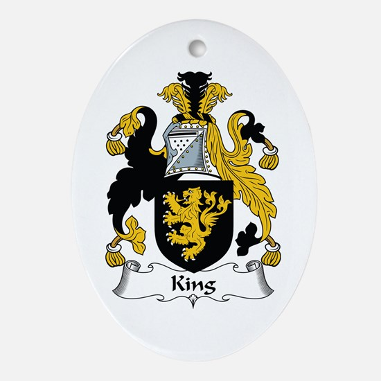 King Oval Ornament