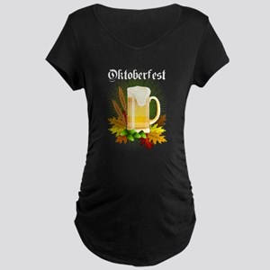 Oktoberfest - Autumn Leaves Maternity T-Shirt