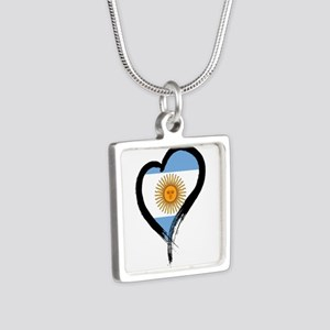 Heart Nation 04 Silver Square Necklace
