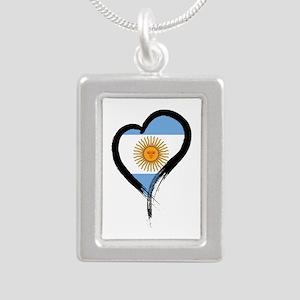 Heart Nation 04 Silver Portrait Necklace