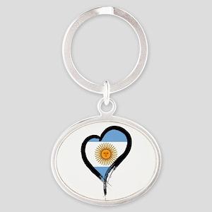 Heart Nation 04 Oval Keychain