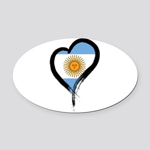 Heart Nation 04 Oval Car Magnet