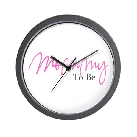 Mommy To Be (Pink Script) Wall Clock