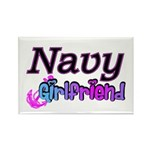 Navy Girlfriend Rectangle Magnet (10 pack)