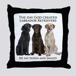Creation of Labs Throw Pillow