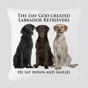 Creation of Labs Woven Throw Pillow