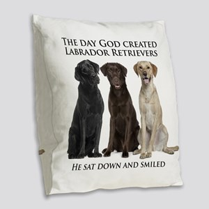 Creation of Labs Burlap Throw Pillow