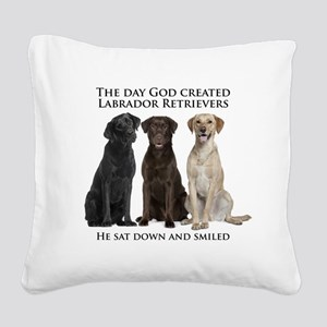 Creation of Labs Square Canvas Pillow