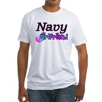 Navy Girlfriend Fitted T-Shirt