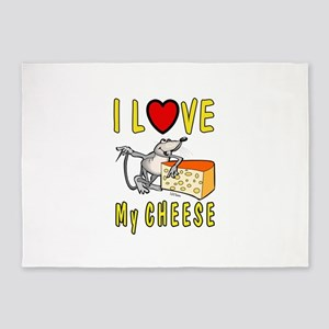 I Love Cheese 5'x7'Area Rug