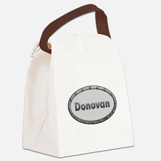 Donovan Metal Oval Canvas Lunch Bag