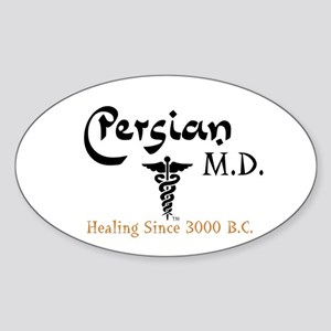 Persian M.D. Oval Sticker