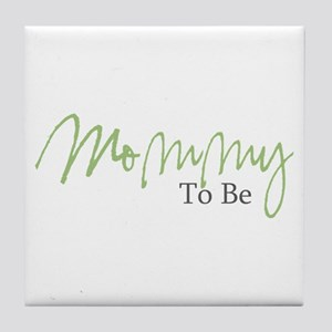 Mommy To Be (Green Script) Tile Coaster