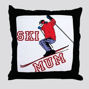 SKI MUM Throw Pillow