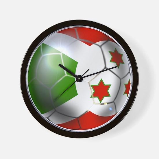 Burundi Football Wall Clock