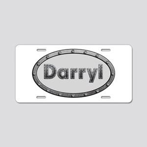 Darryl Metal Oval Aluminum License Plate