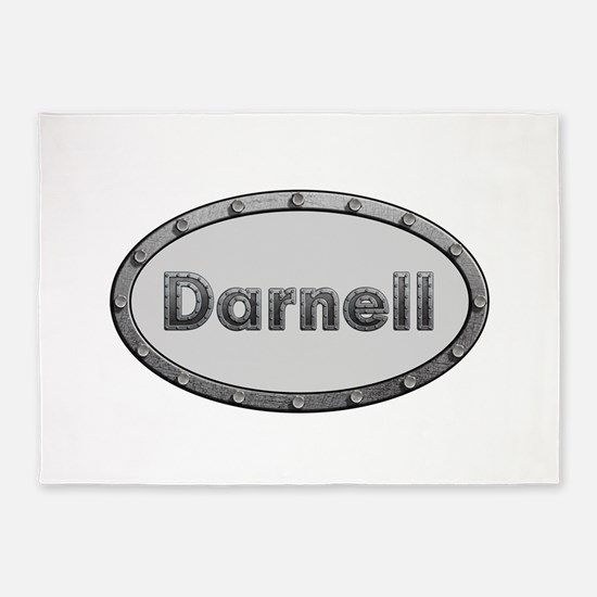 Darnell Metal Oval 5'x7'Area Rug